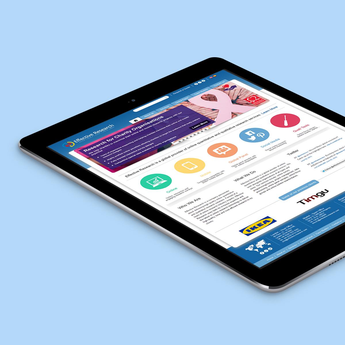 Market Research Firm Website Design
