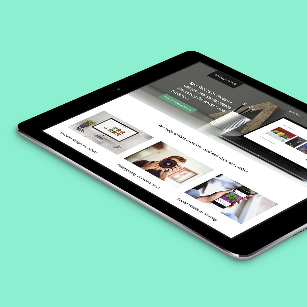Art Exposure Website Design